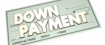 Down Payment Loan Financing Mortgage Cash Check 3d Words
